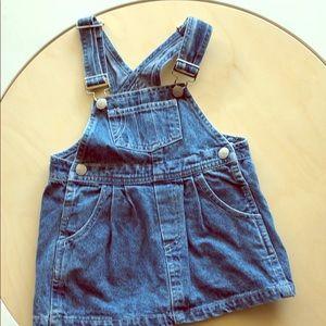 Vintage baby gap best basics skirt dress overall